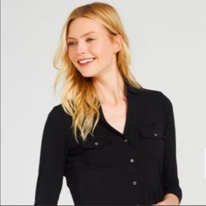 NEW J.McLaughlin Brynn Lyford Jersey Shirt Black